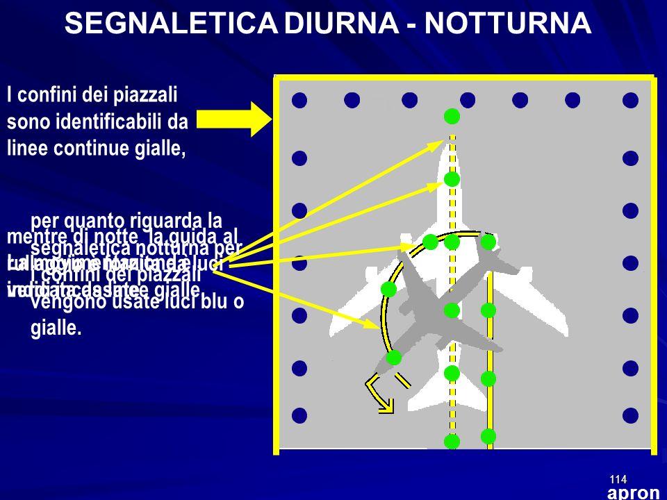SEGNALETICA DIURNA - NOTTURNA