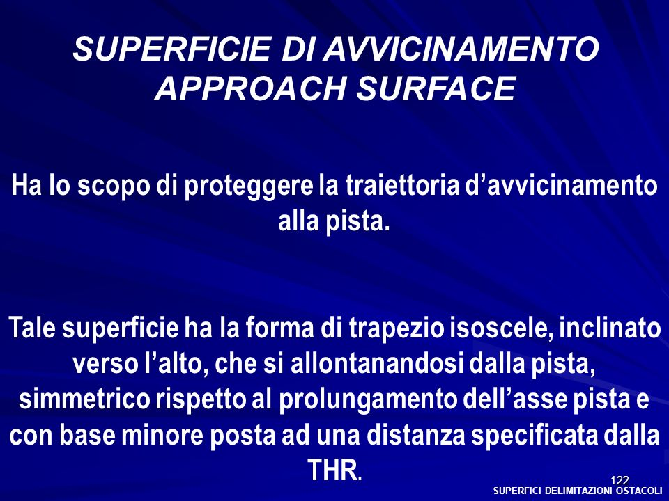 SUPERFICIE DI AVVICINAMENTO APPROACH SURFACE