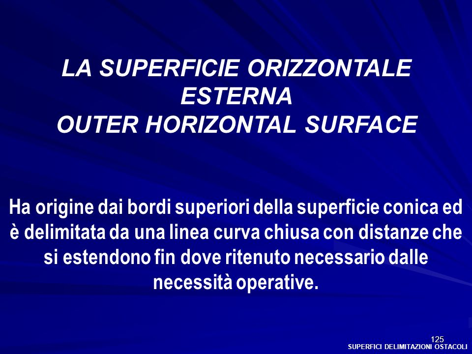 LA SUPERFICIE ORIZZONTALE ESTERNA OUTER HORIZONTAL SURFACE
