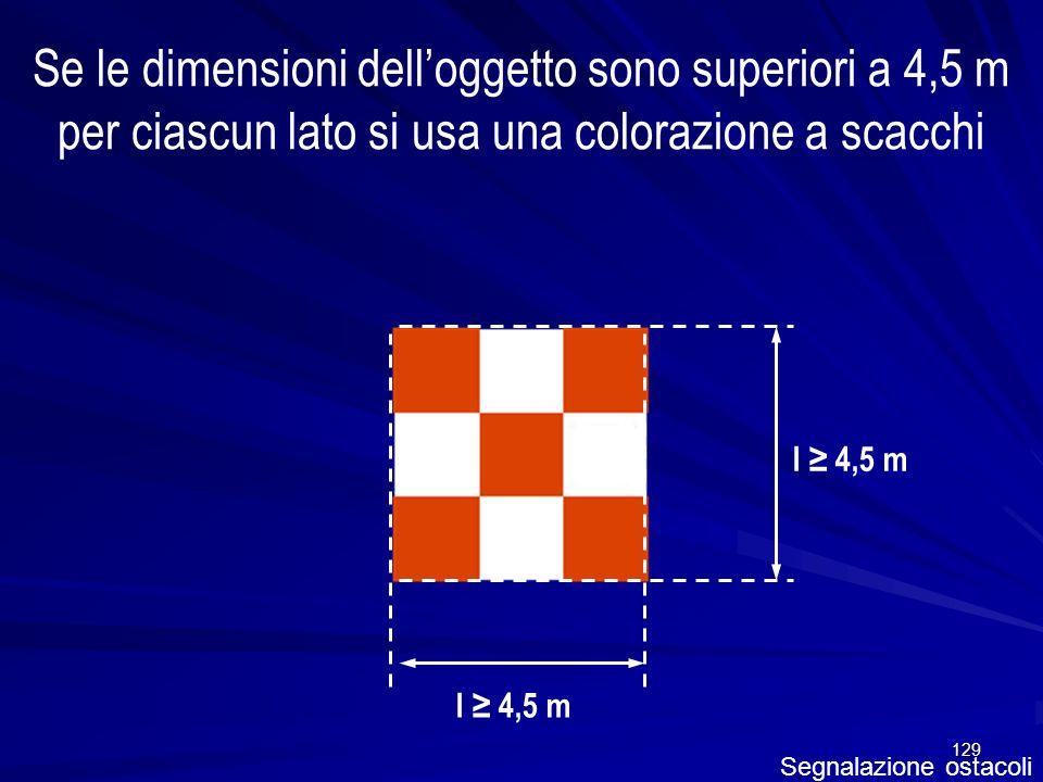 Se le dimensioni dell'oggetto sono superiori a 4,5 m per ciascun lato si usa una colorazione a scacchi