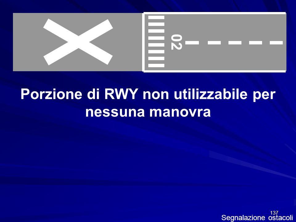 Porzione di RWY non utilizzabile per nessuna manovra