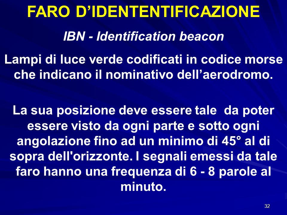 FARO D'IDENTENTIFICAZIONE IBN - Identification beacon