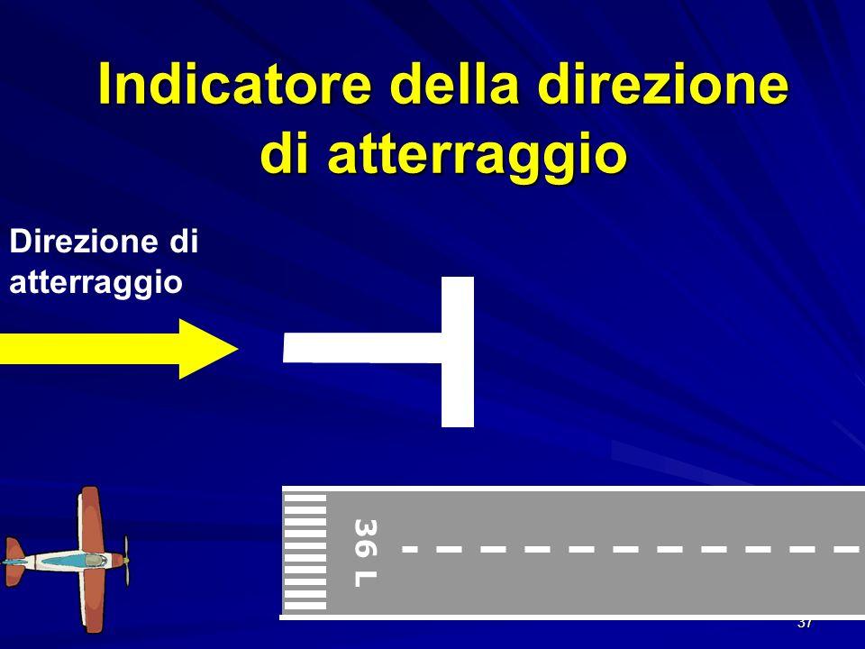 Indicatore della direzione di atterraggio