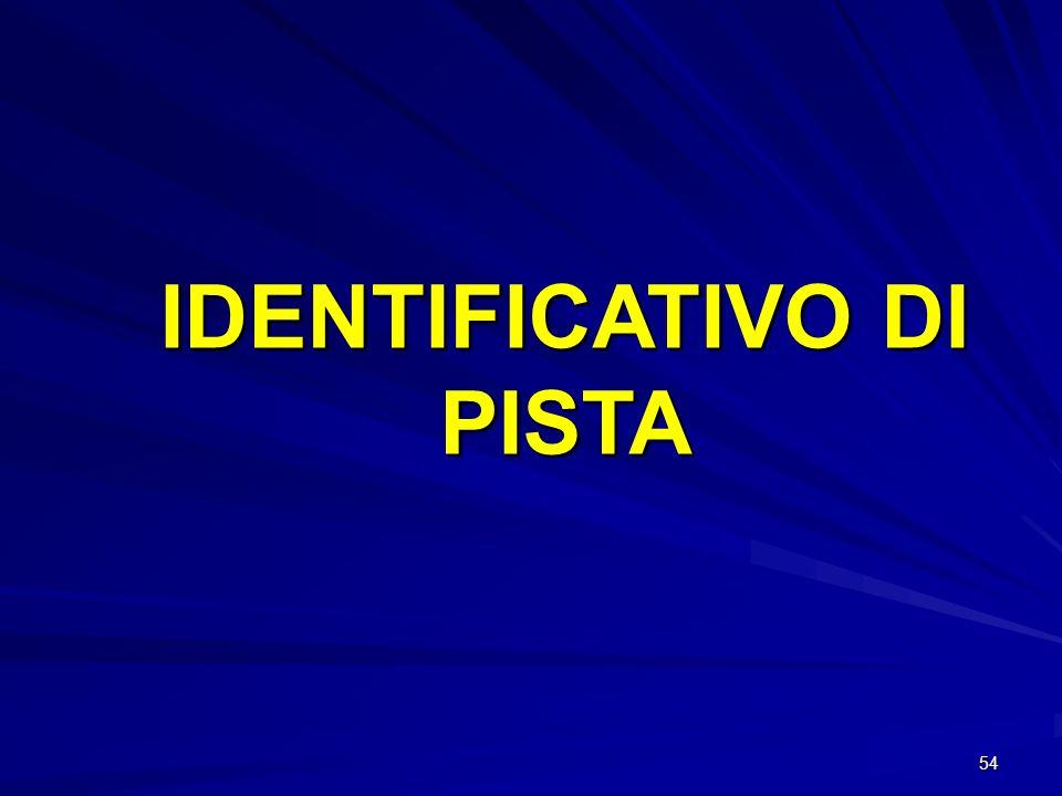 IDENTIFICATIVO DI PISTA