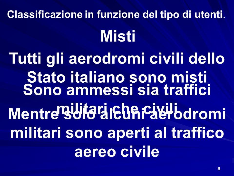 Tutti gli aerodromi civili dello Stato italiano sono misti
