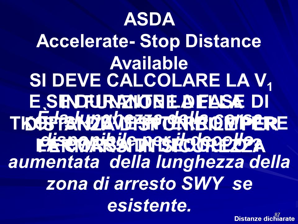 ASDA Accelerate- Stop Distance Available