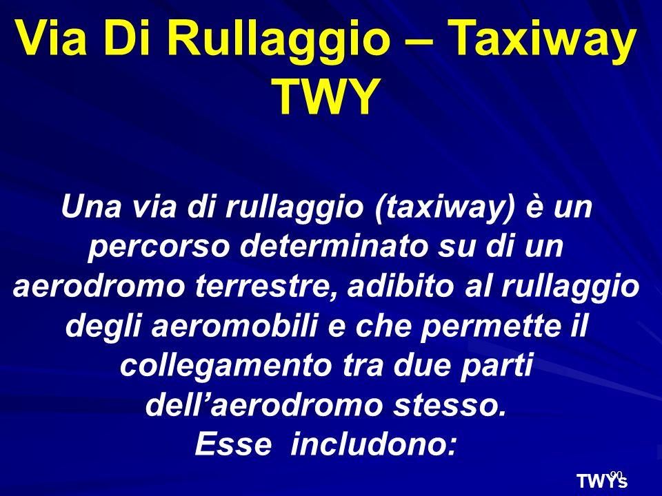 Via Di Rullaggio – Taxiway TWY