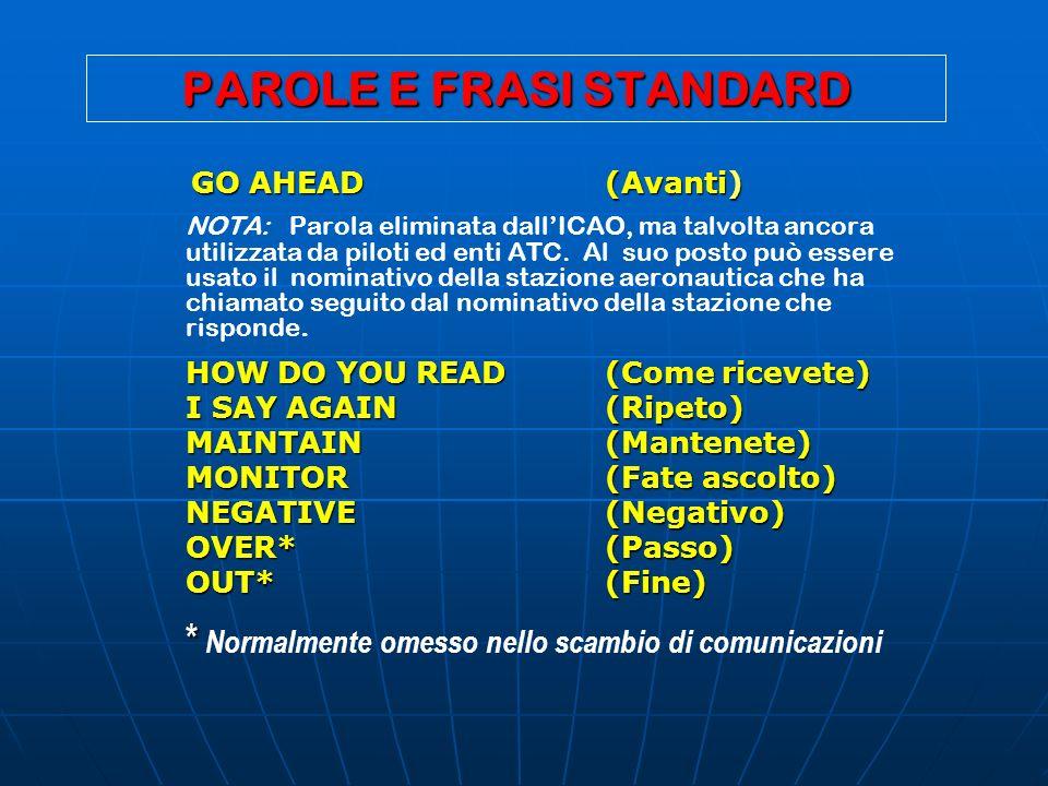 PAROLE E FRASI STANDARD