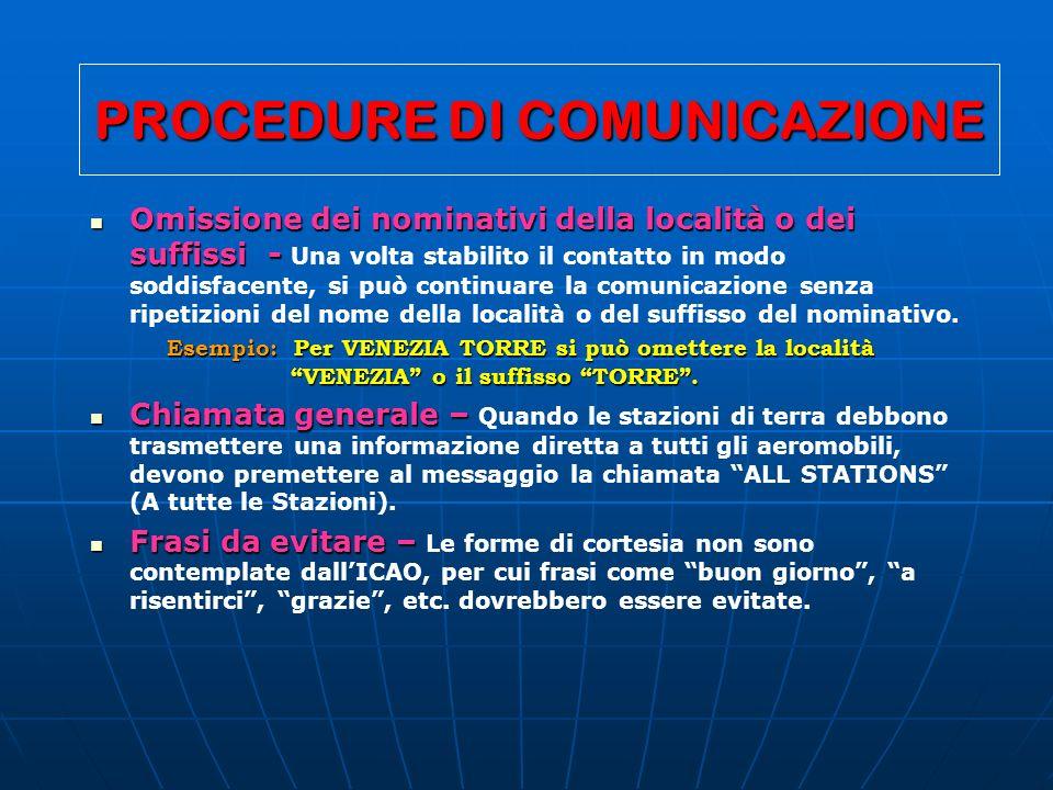 PROCEDURE DI COMUNICAZIONE