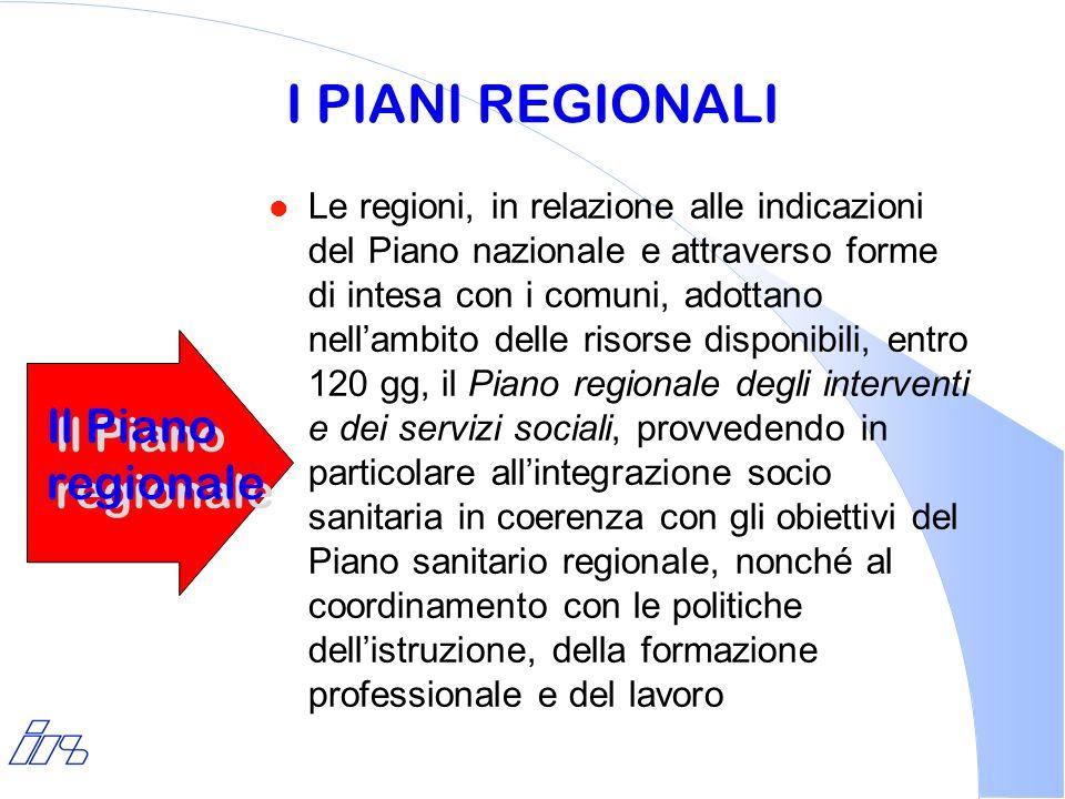 I PIANI REGIONALI Il Piano regionale