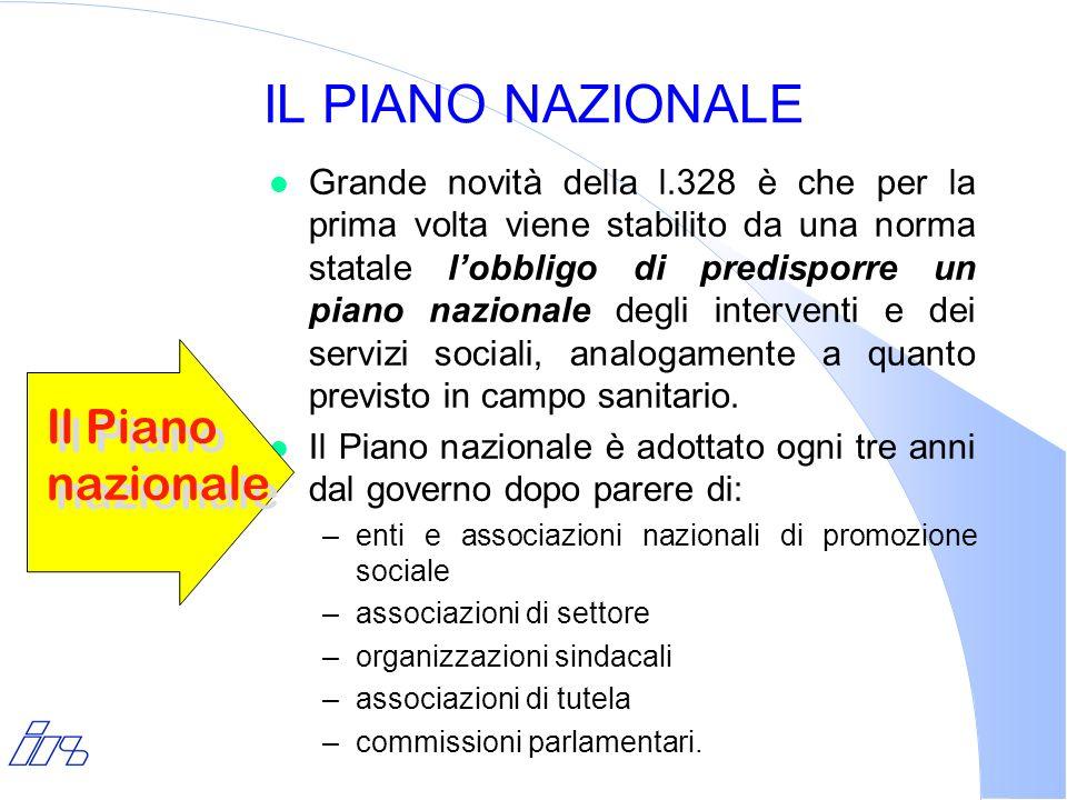 IL PIANO NAZIONALE Il Piano nazionale