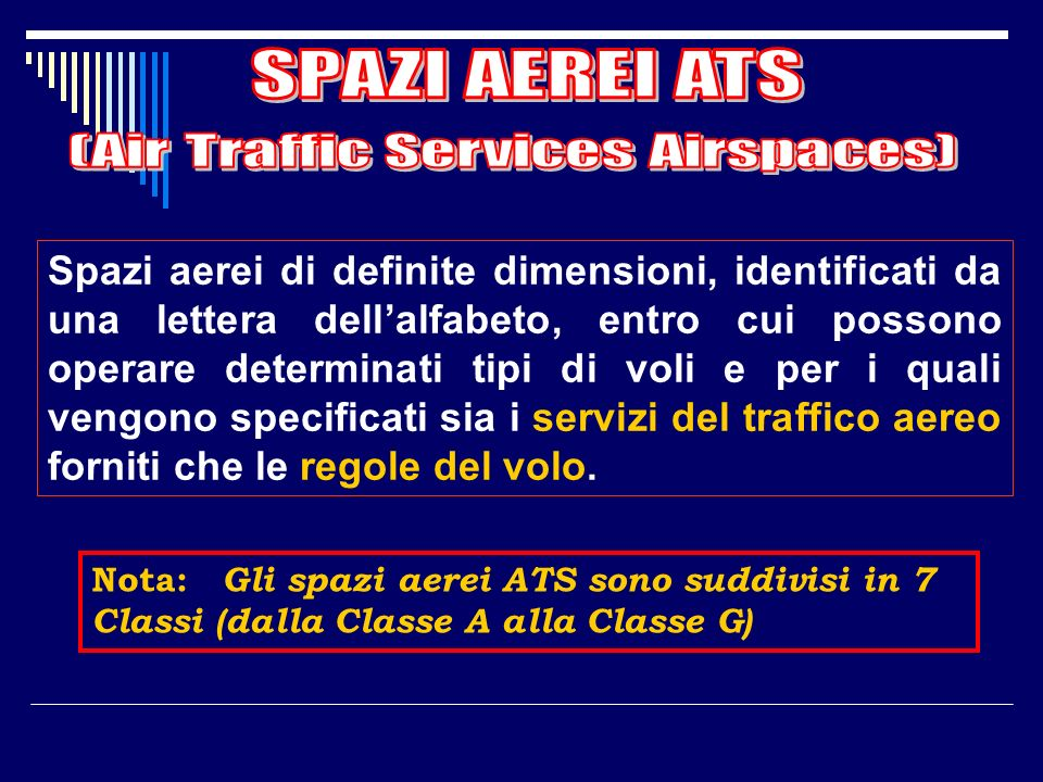 (Air Traffic Services Airspaces)
