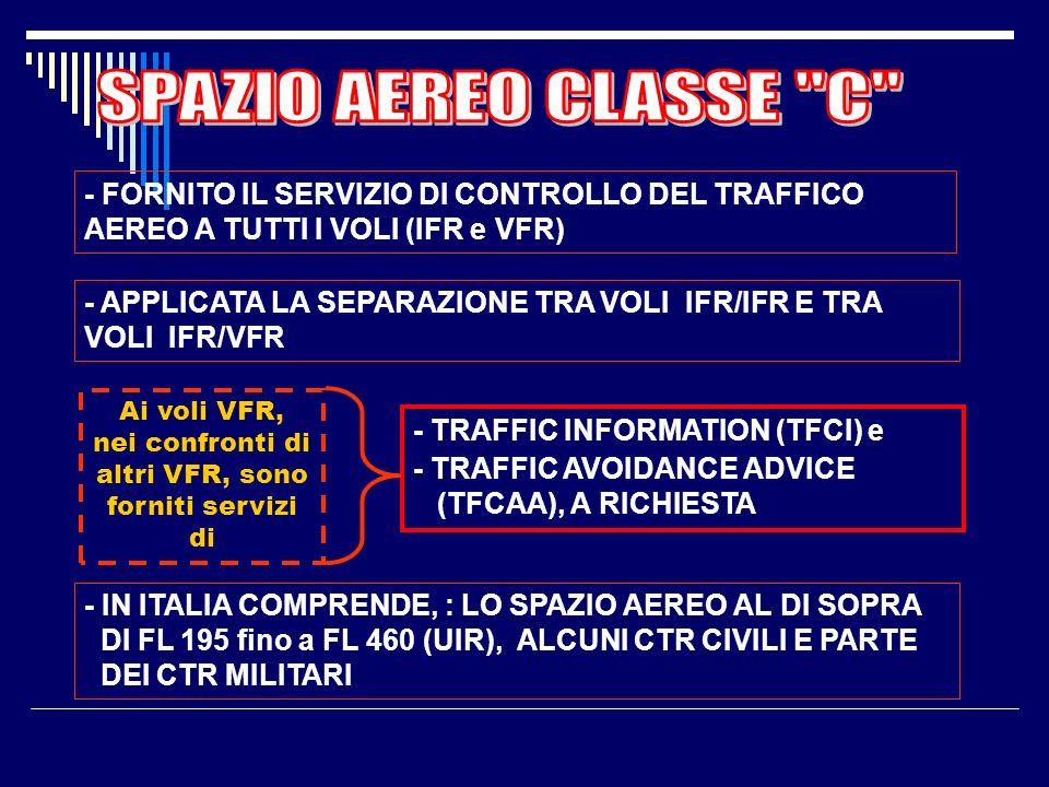 Ai voli VFR, nei confronti di altri VFR, sono forniti servizi di