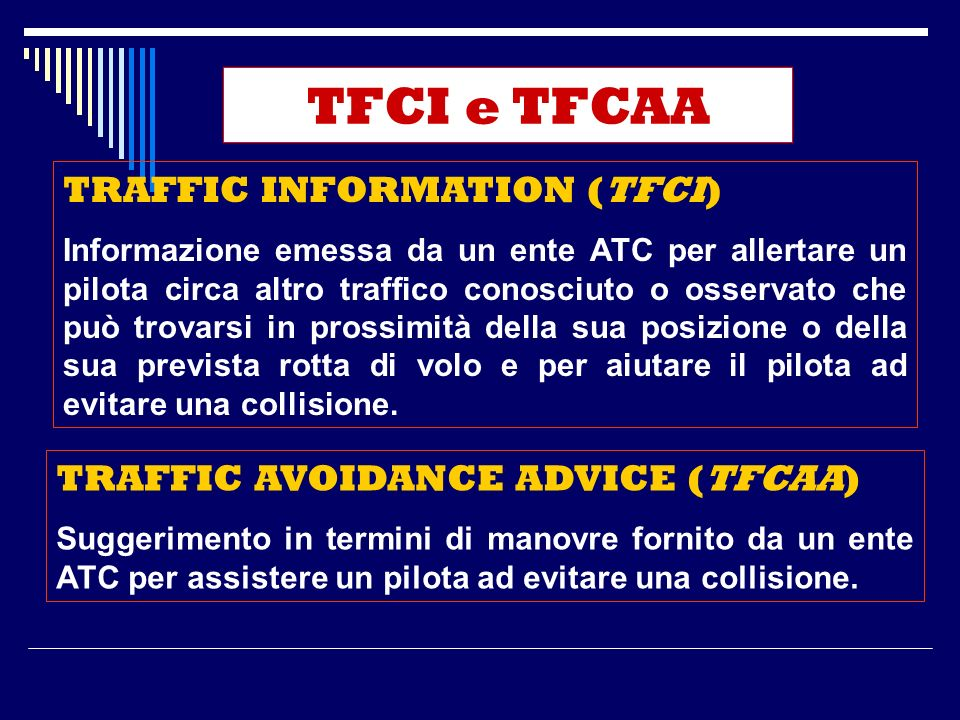 TFCI e TFCAA TRAFFIC INFORMATION (TFCI)