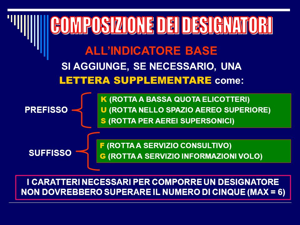 SI AGGIUNGE, SE NECESSARIO, UNA LETTERA SUPPLEMENTARE come: