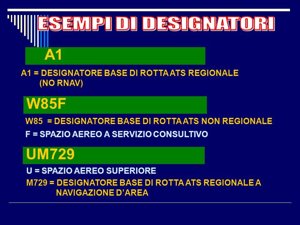 A1 W85F UM729 ESEMPI DI DESIGNATORI