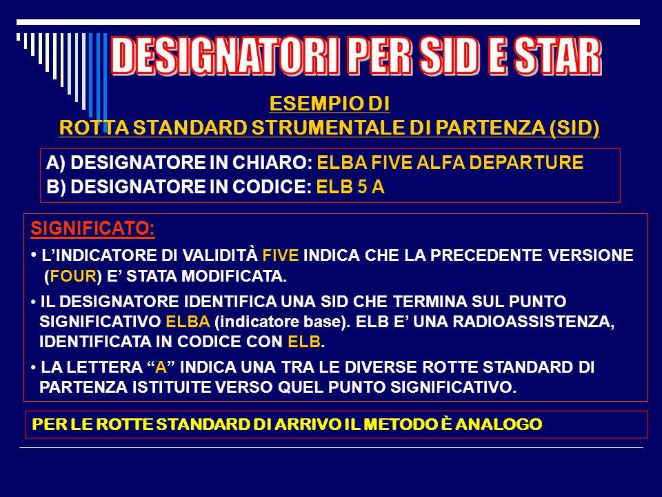 ROTTA STANDARD STRUMENTALE DI PARTENZA (SID)