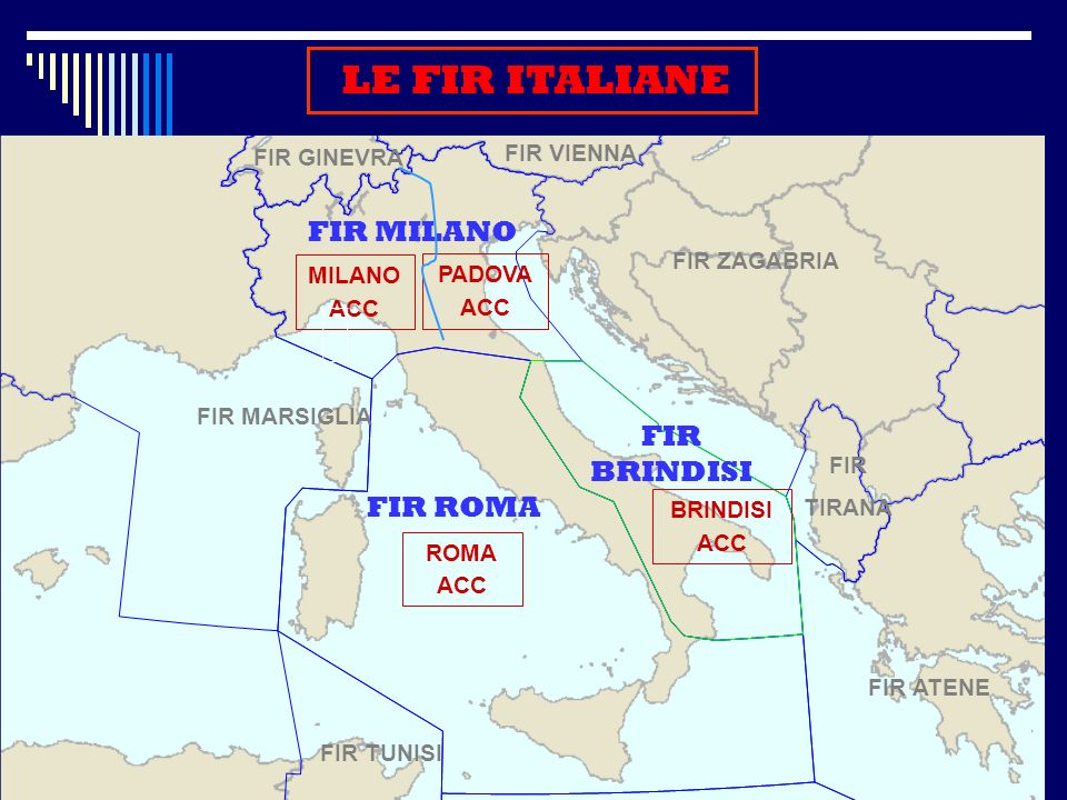LE FIR ITALIANE FIR MILANO FIR BRINDISI FIR ROMA FIR VIENNA