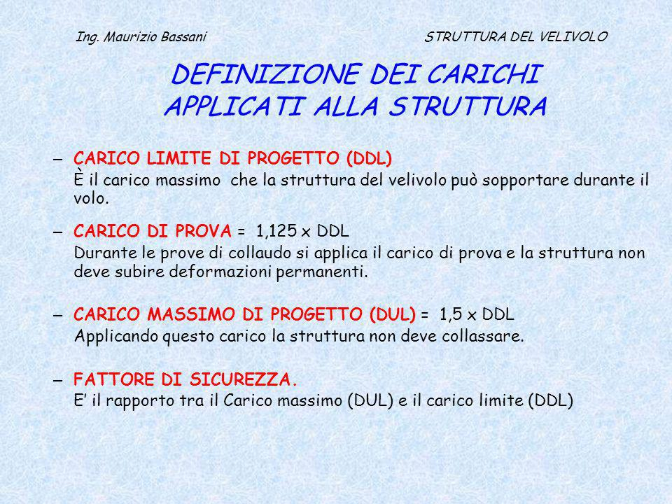 Ing. Maurizio Bassani - STRUTTURA DEL VELIVOLO