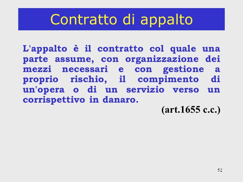 Contratto di appalto (art.1655 c.c.)