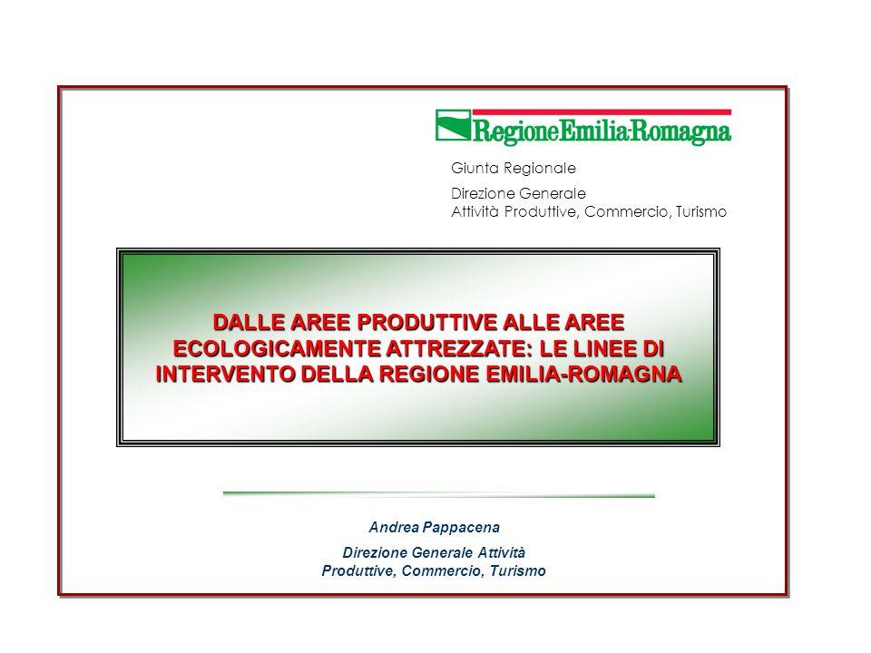 Direzione Generale Attività Produttive, Commercio, Turismo