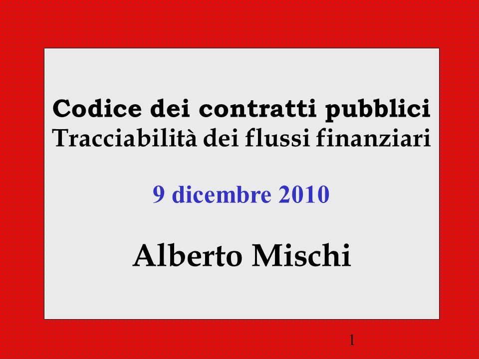 Codice dei contratti pubblici Tracciabilità dei flussi finanziari
