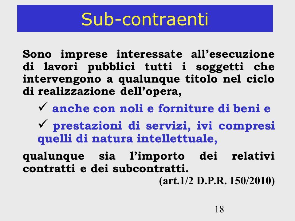 Sub-contraenti