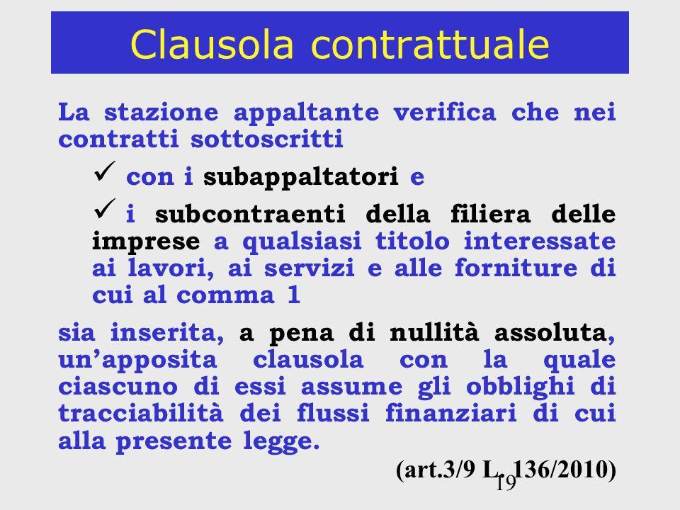 Clausola contrattuale