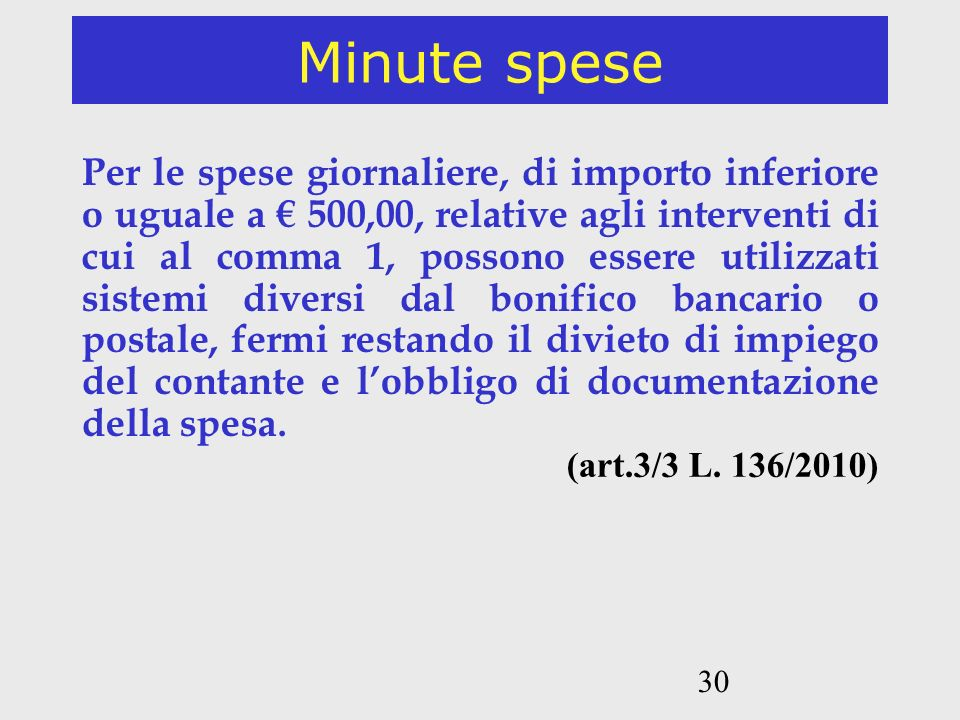Minute spese