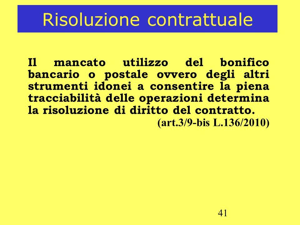 Risoluzione contrattuale