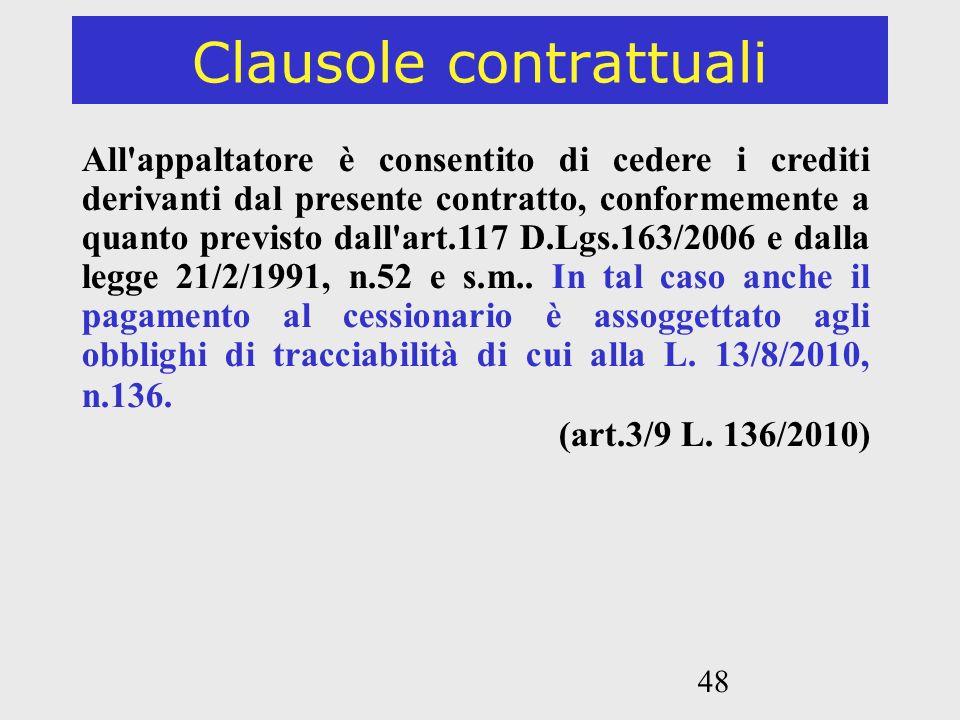 Clausole contrattuali