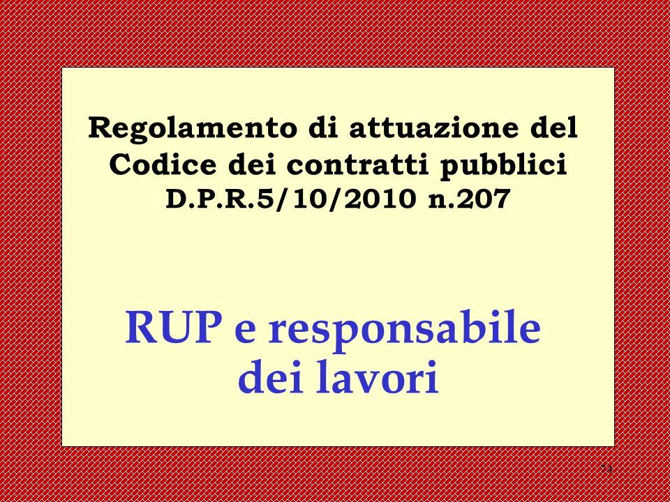 Regolamento di attuazione del Codice dei contratti pubblici