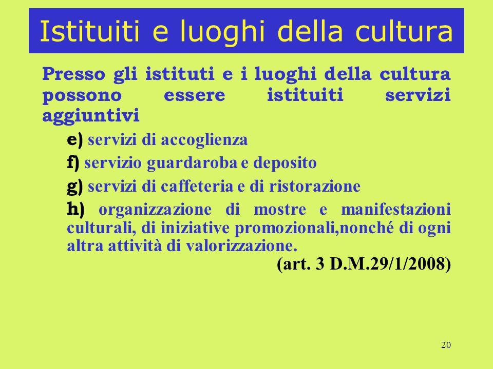 Istituiti e luoghi della cultura