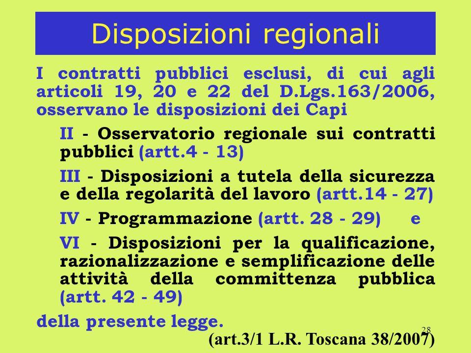 Disposizioni regionali