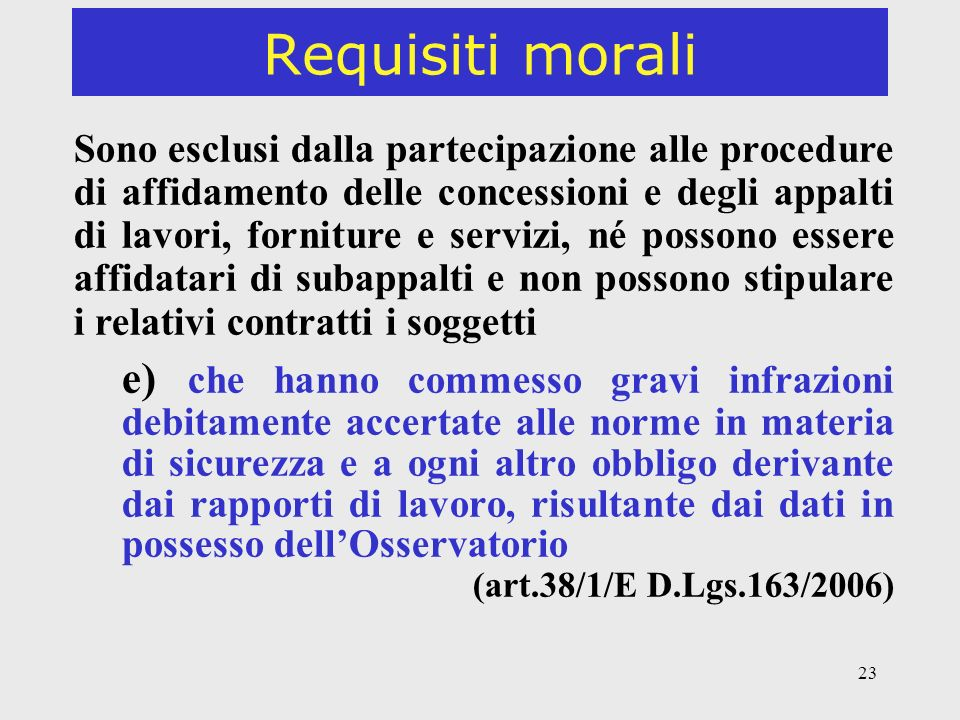 Requisiti morali