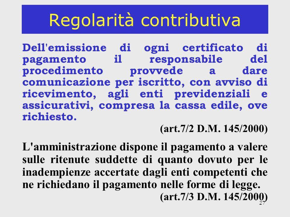 Regolarità contributiva
