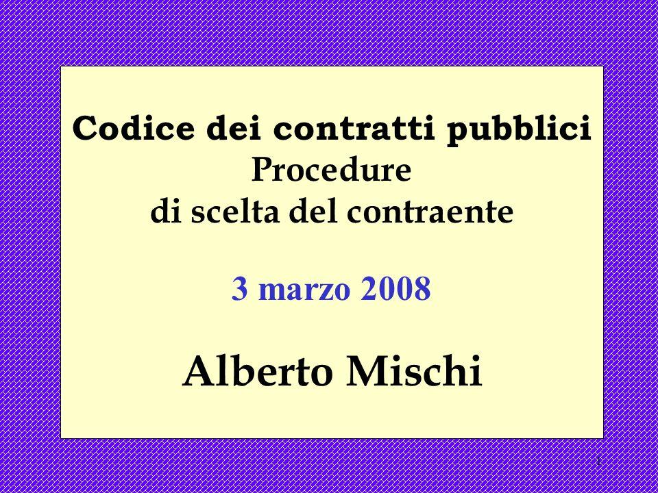 Codice dei contratti pubblici di scelta del contraente