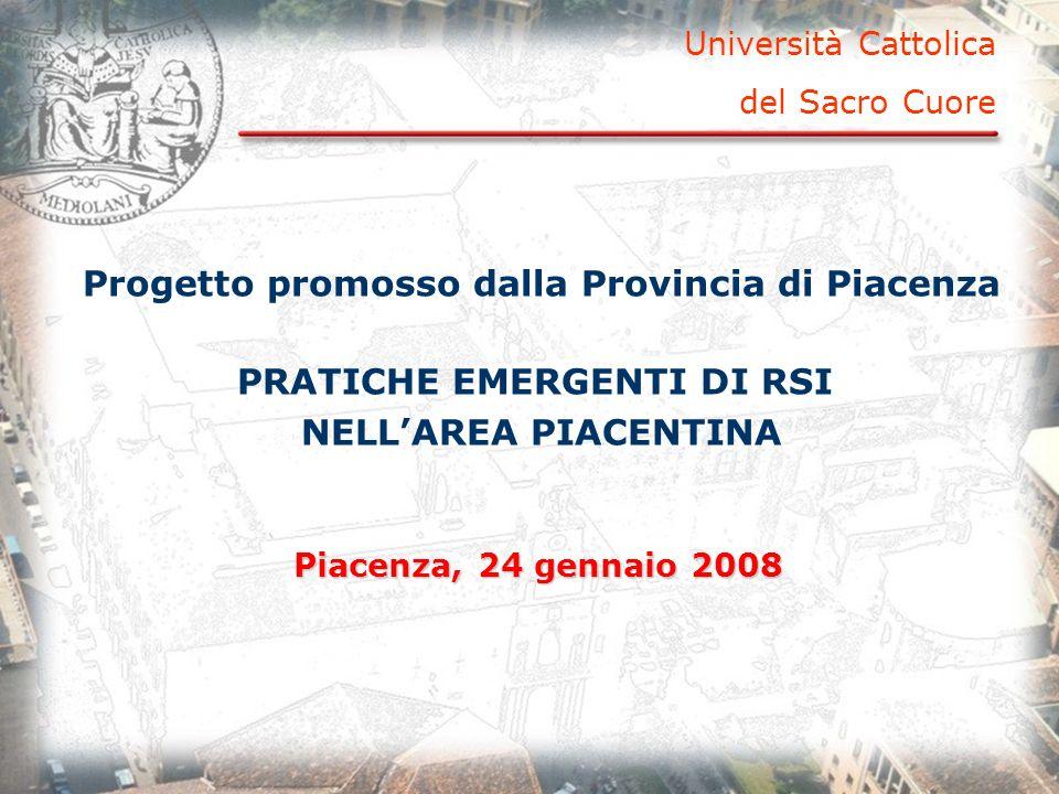 Progetto promosso dalla Provincia di Piacenza