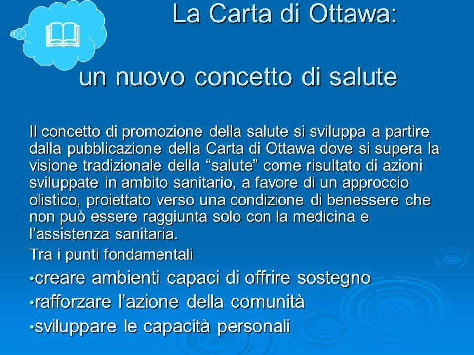 La Carta di Ottawa: un nuovo concetto di salute