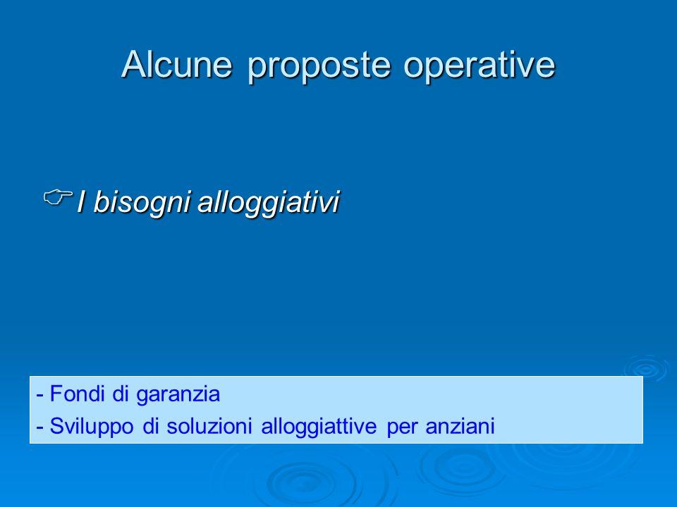 Alcune proposte operative