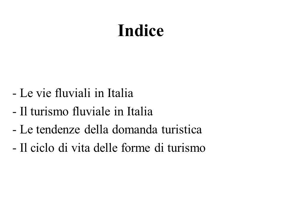 Indice Le vie fluviali in Italia Il turismo fluviale in Italia