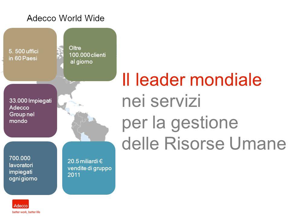 Il leader mondiale nei servizi per la gestione delle Risorse Umane