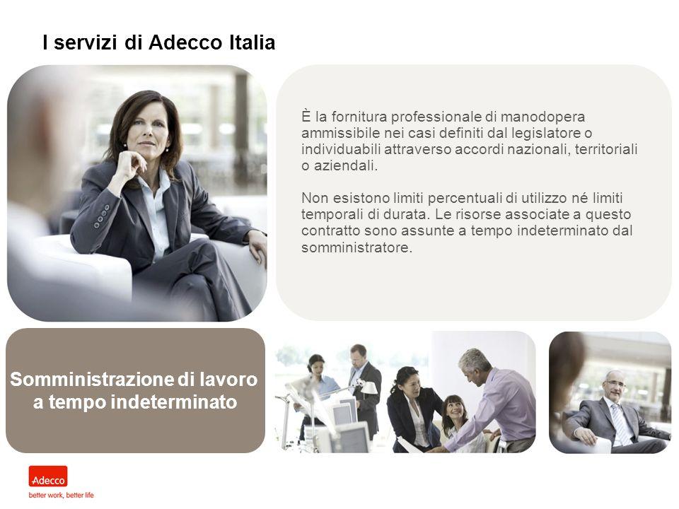 I servizi di Adecco Italia Somministrazione di lavoro