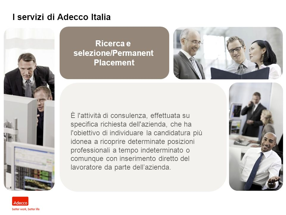 I servizi di Adecco Italia