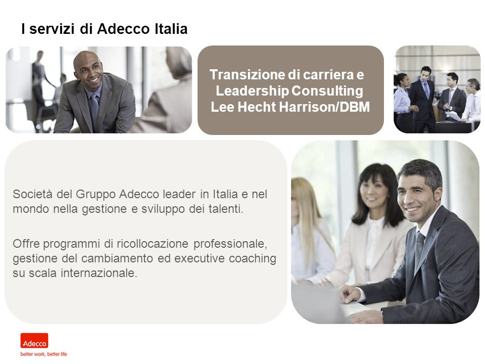 Transizione di carriera e Leadership Consulting Lee Hecht Harrison/DBM
