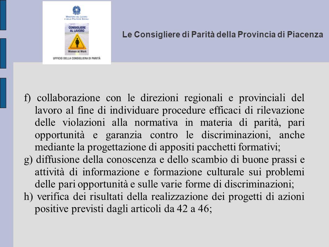 Le Consigliere di Parità della Provincia di Piacenza