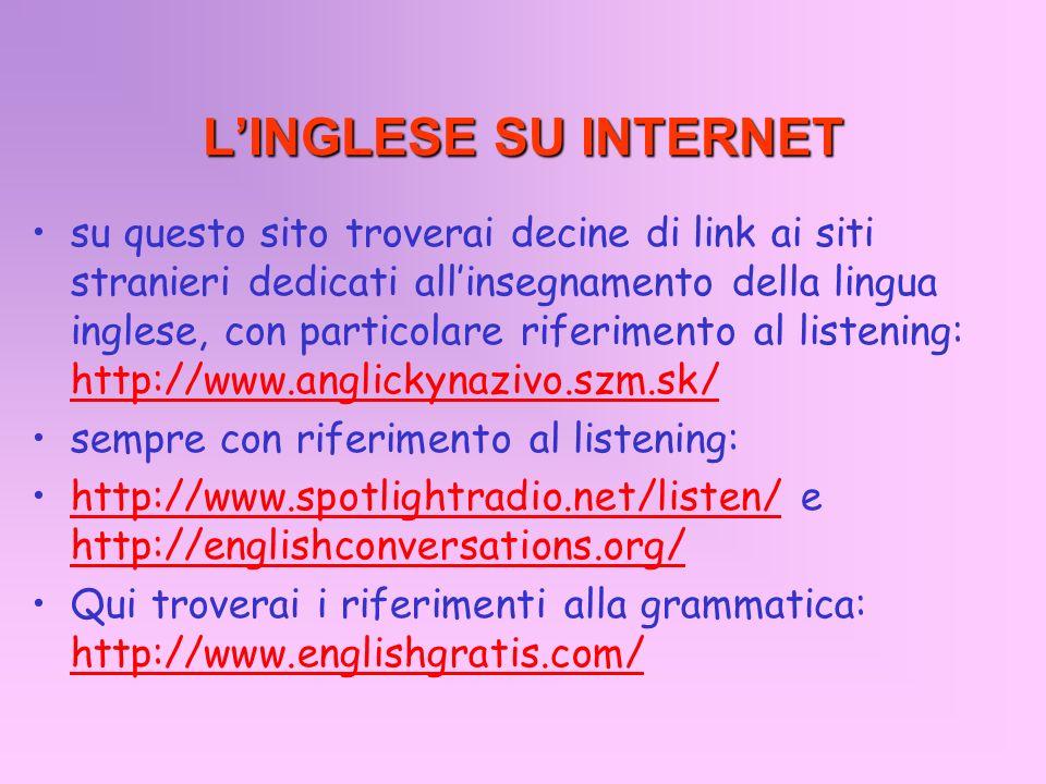 L'INGLESE SU INTERNET