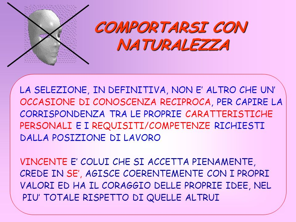 COMPORTARSI CON NATURALEZZA