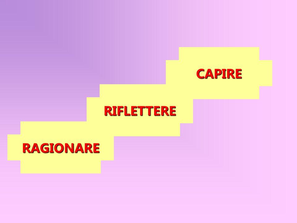 CAPIRE RIFLETTERE RAGIONARE