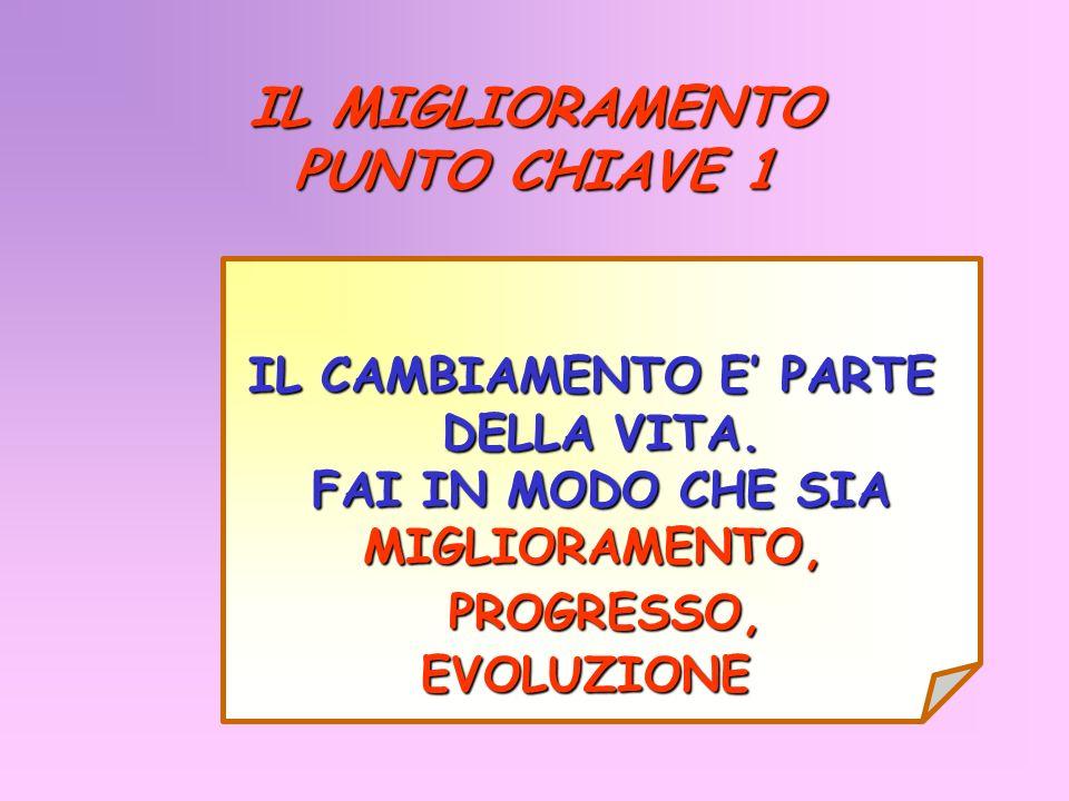 IL MIGLIORAMENTO PUNTO CHIAVE 1